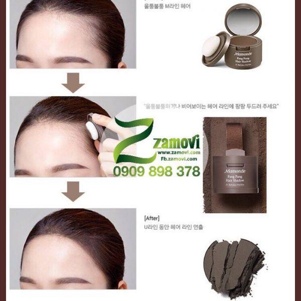 Phấn che khuyết điểm tóc thưa cho vầng trán