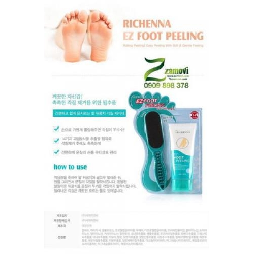 Tẩy da chết gót chân Richenna