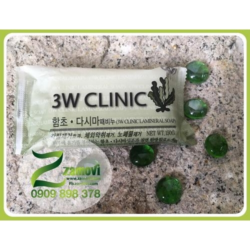 Xà phòng rong biển 3W Clinic ngừa viêm nang lông