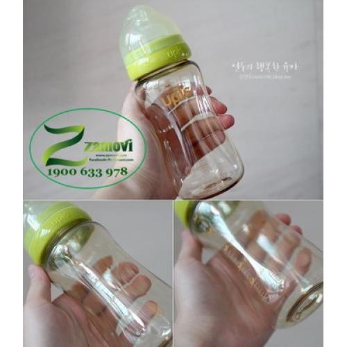 Bình sữa nhựa UPIS 200ml (Màu Xanh)