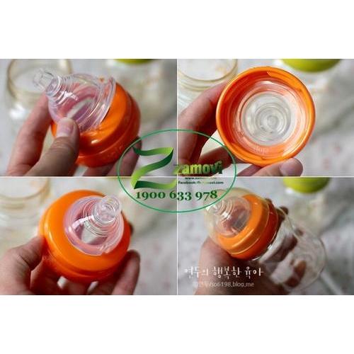 Bình sữa nhựa UPIS 200ml (Màu Cam)