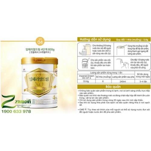 Sữa XO Hàn Quốc (số 4: 12-24 tháng tuổi)