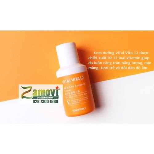 Kem Vital Vita 12 Tony Moly cung cấp năng lượng cho da