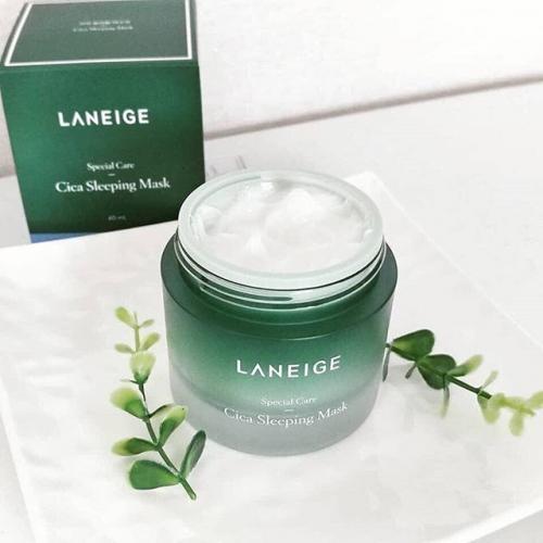 Mặt nạ ngủ Laneige xanh lá cho da mụn nhạy cảm 60ml