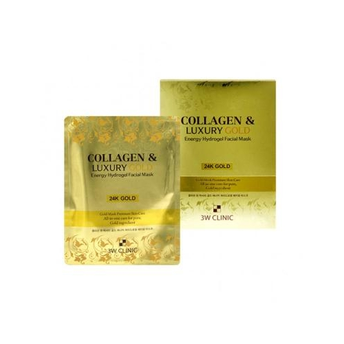 MẶT NẠ VÀNG THẠCH COLLAGEN & LUXURY GOLD FACICAL MASK 3W CLINIC